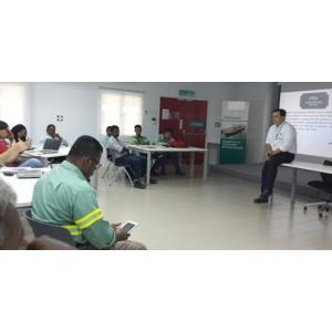 Treinamento de Análise de Risco no Novo Terminal Marítimo na Malásia